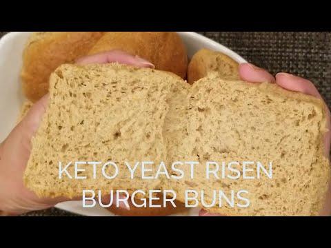 Keto Yeast Risen Burger Buns