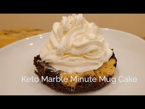 Keto Marble Minute Mug Cake